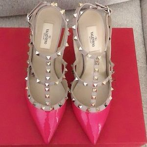 VALENTINO Pink Rock Studded Pumps
